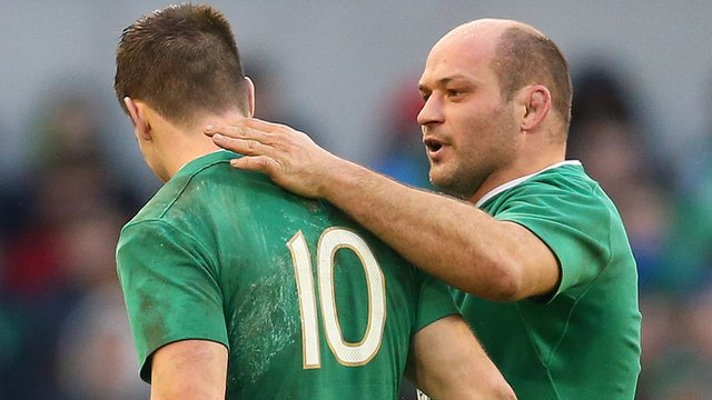 Johnny Sexton and Rory Best after Ireland's draw against Wales