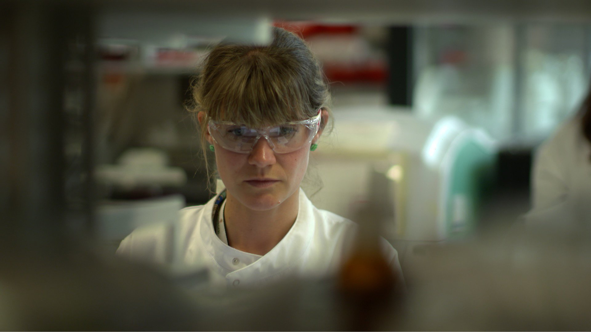 Scientist at work in the lab