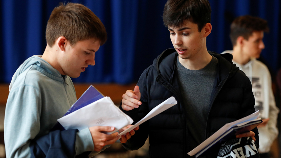 Students discuss their results