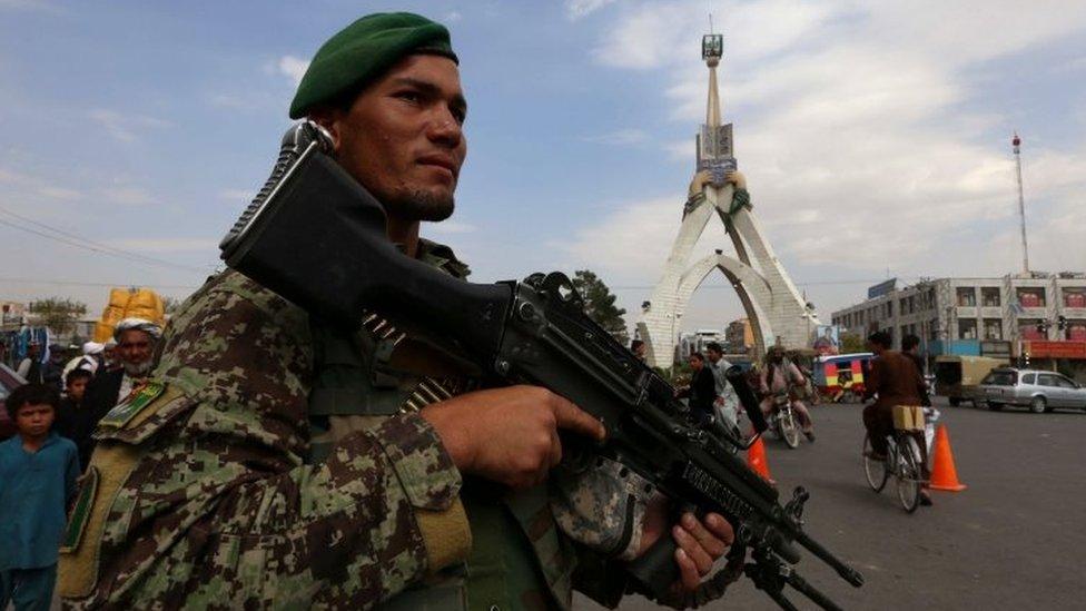 Afghan soldier in Herat (02 October 2015)