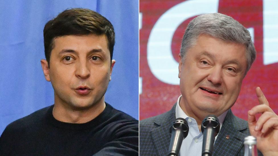 Rivali Volodimir Zelenski (levo) i Petro Porošenko imaju potpuno različite stilove