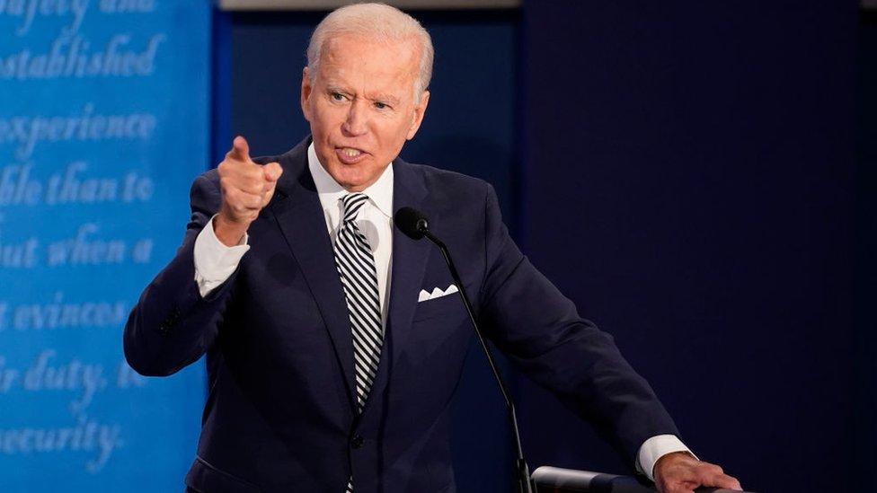 Joe Biden em debate da Fox News