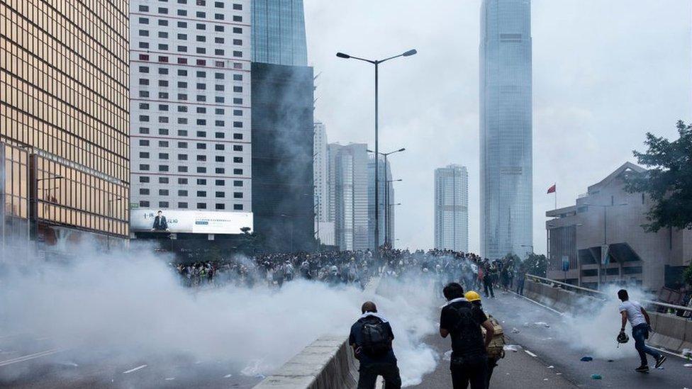 6月12日,香港金鐘。