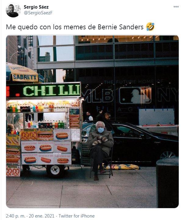 Un tuit sobre Bernie Sanders