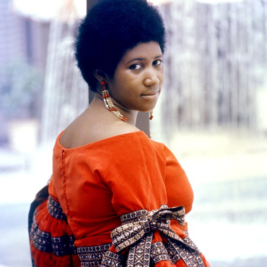 Soul singer Aretha Franklin poses for a portrait in circa 1968.