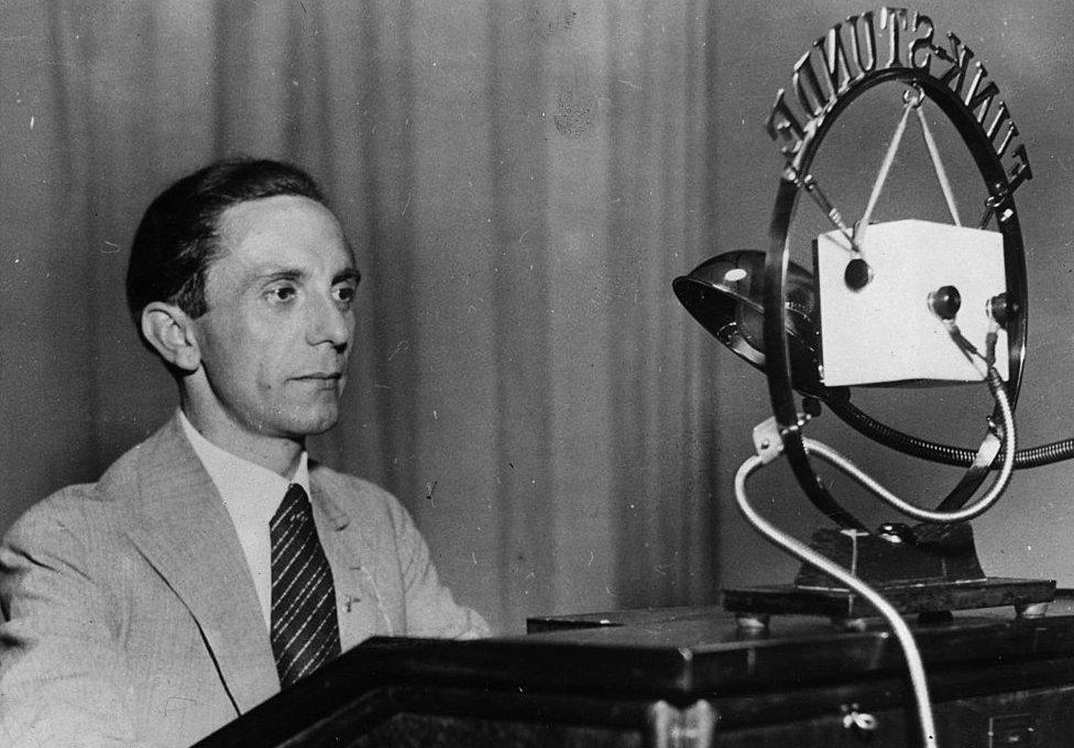 Joseph Goebbels fue el encargado de la propaganda en la Alemania de Hitler.