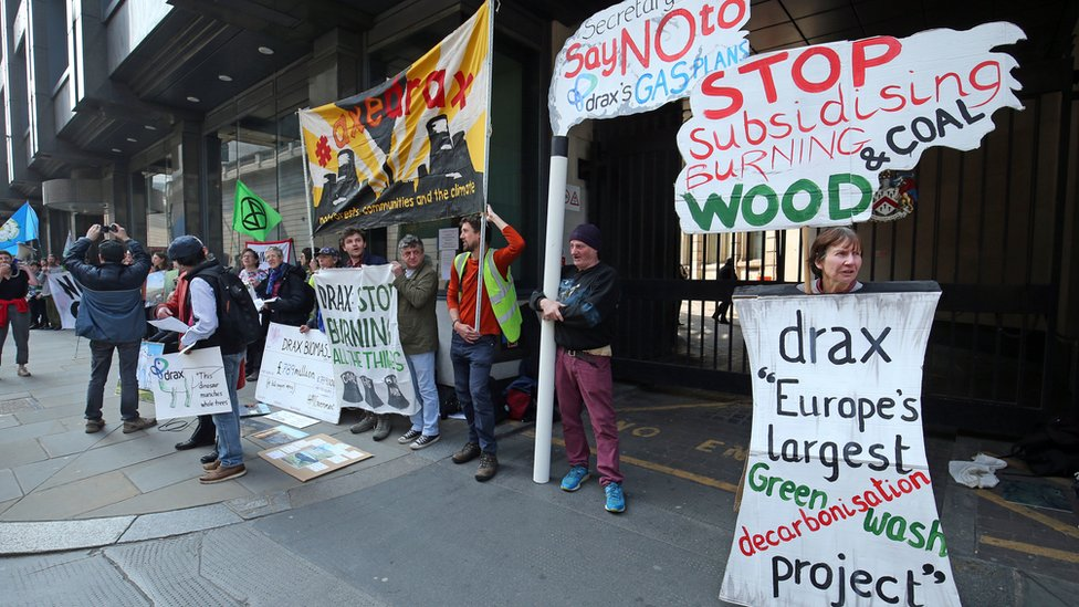 Campaigners say Drax biomass 'creates carbon'