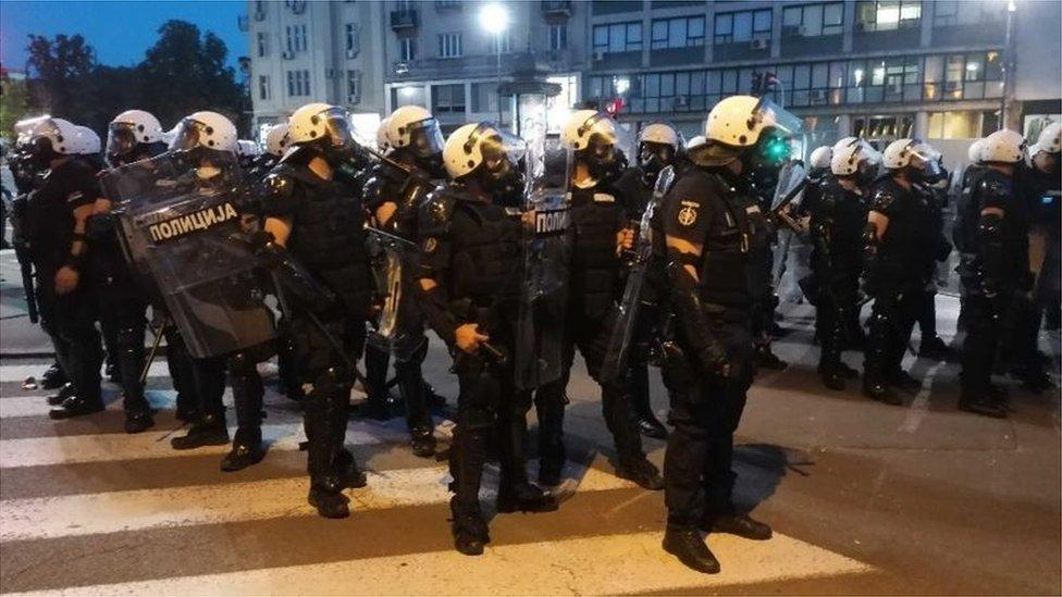 Policija, Beograd, jul 2020.