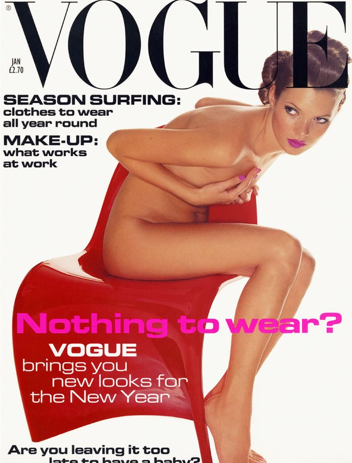 Kate Moss on the cover of Vogue