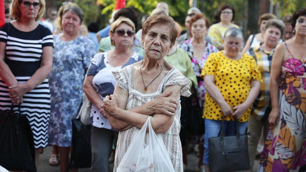 Žene na protestu u gradu Ivanovo