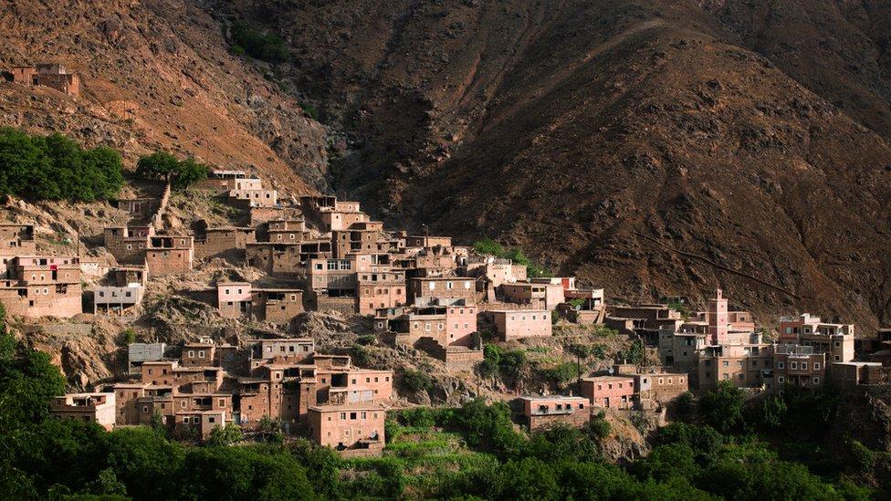 Comunidad en la montañas de Marruecos