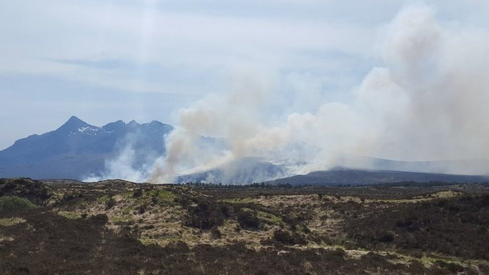 Three large wildfires break out in Highlands