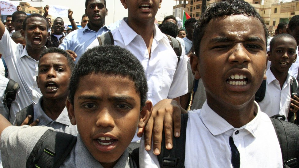 Sudanese students protest in the capital Khartoum on July 30, 2019