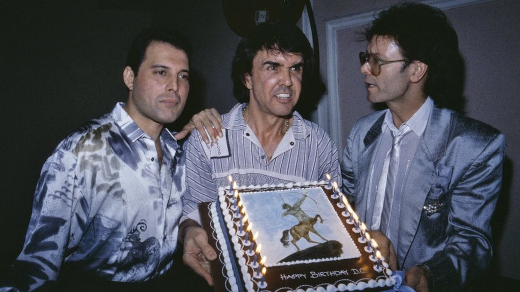 Freddie Mercury, Dave Clark and Cliff Richard