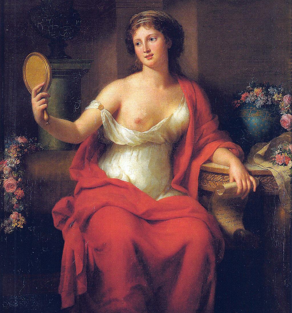 Autorretrato de la pintora francesa Marie-Geneviève Bouliar disfrazada de Aspasia.
