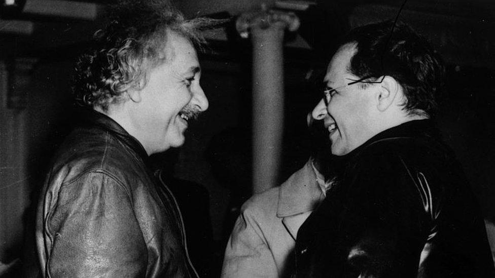 Albert Einstein and his son Hans Albert Einstein