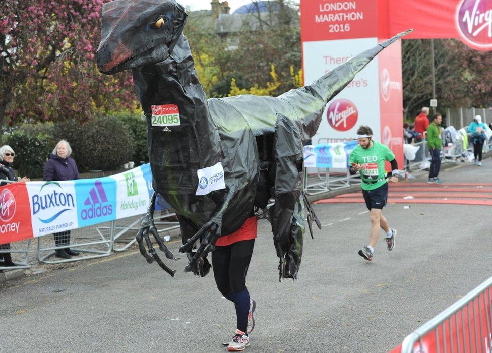 A runner in fancy dress