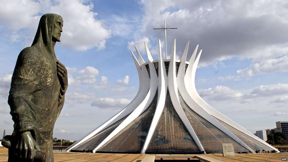 Brasilia's Cathedral pictured on 26 May 2005