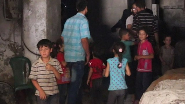 People in Aleppo