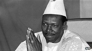 Malian leader Moussa Traore