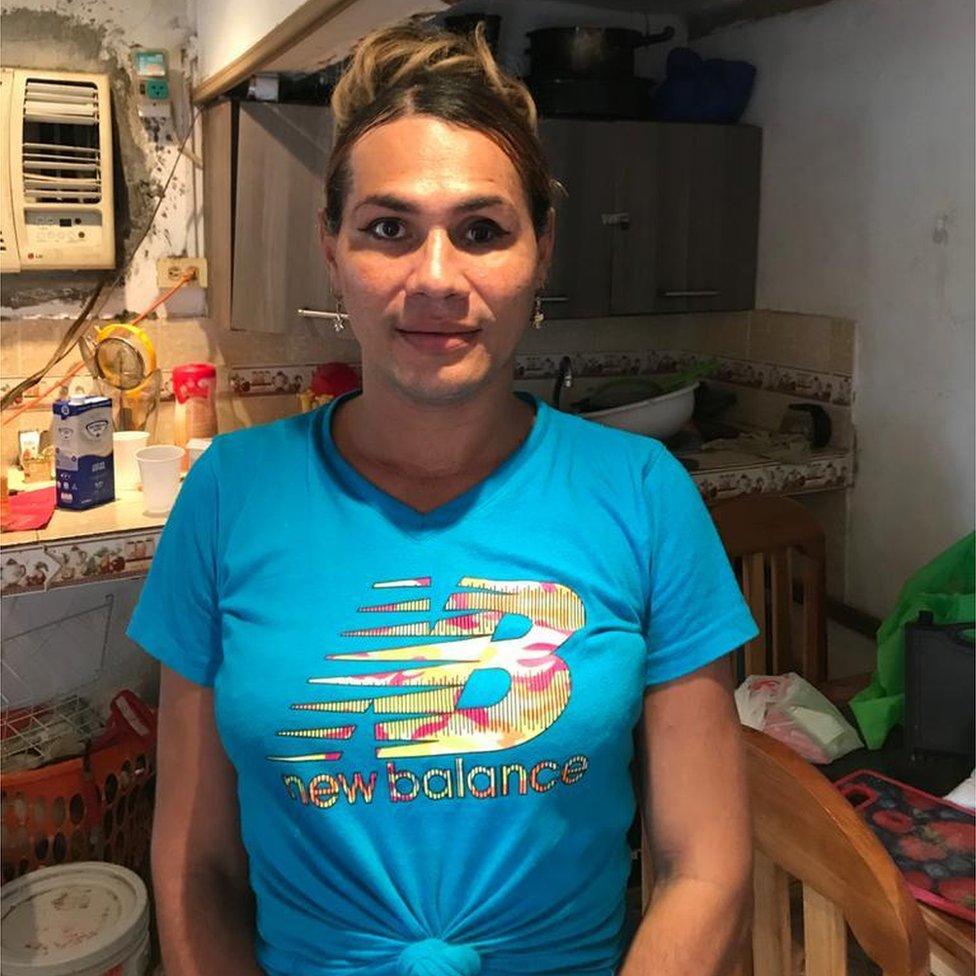 Monica in her kitchen