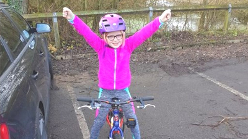 Children in Need: Eight-year-old cycles 365 miles