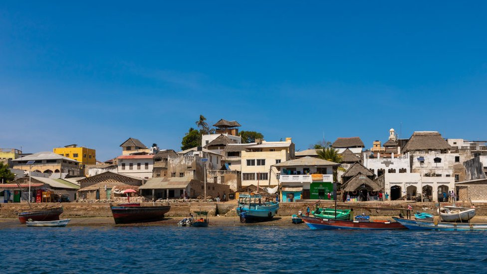 Lamu town pictured from the sea in 2019.