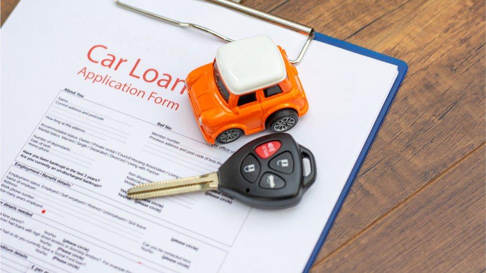 A car loan application form