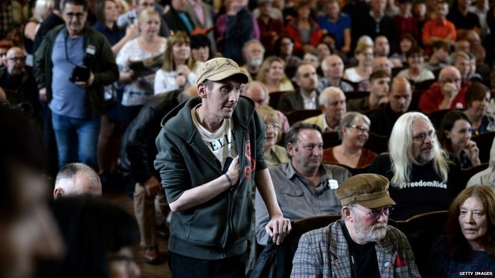 Corbyn supporters attend rally in Doncaster