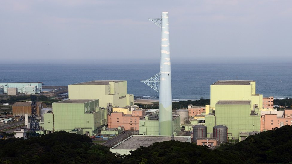 A general view shows Taiwan's fourth nuclear power plant in northern Gongliao district, New Taipei City on March 5, 2013.