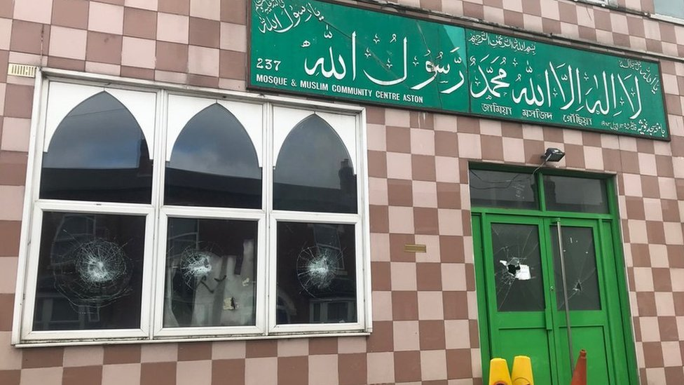 Birmingham mosque attacks probed by terrorism officers