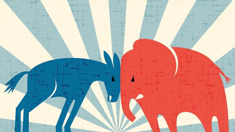 asno y elefante.