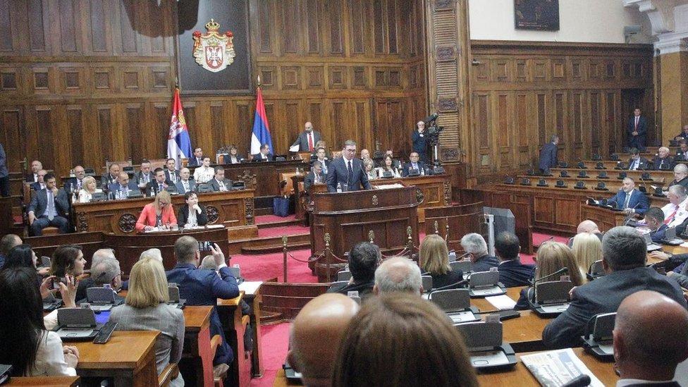 Vučićev govor trajao je dva i po sata
