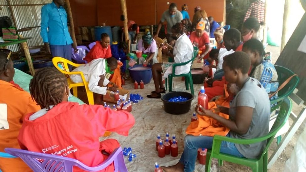 A soap-making workshop in Kakuma