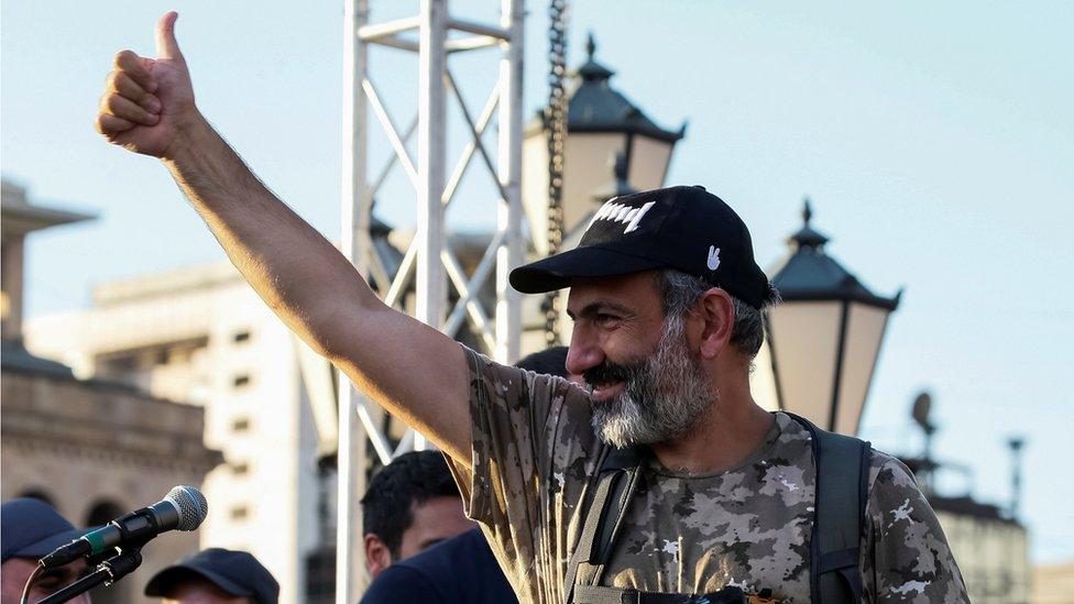 Nikol Pašinяn, protestы v Armenii, maя 2018