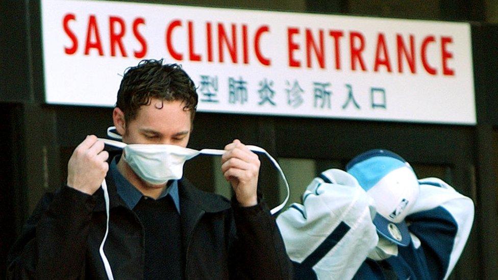 Centro de tratamiento del SARS.