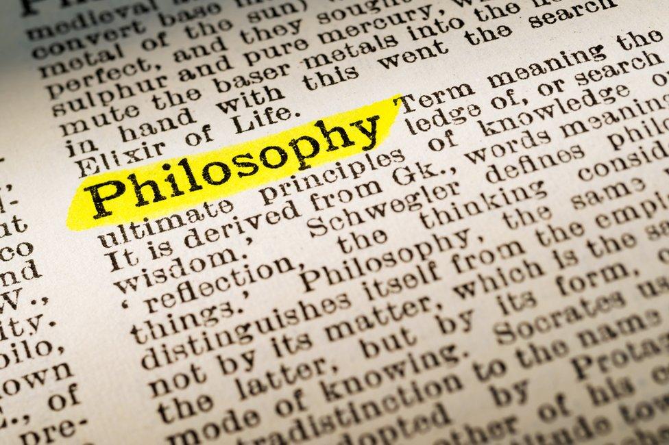 Palabra filosofía destacada en un texto.