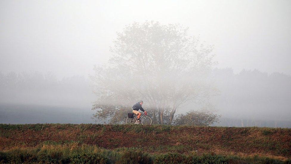 Cycling in Thornham, Norfolk
