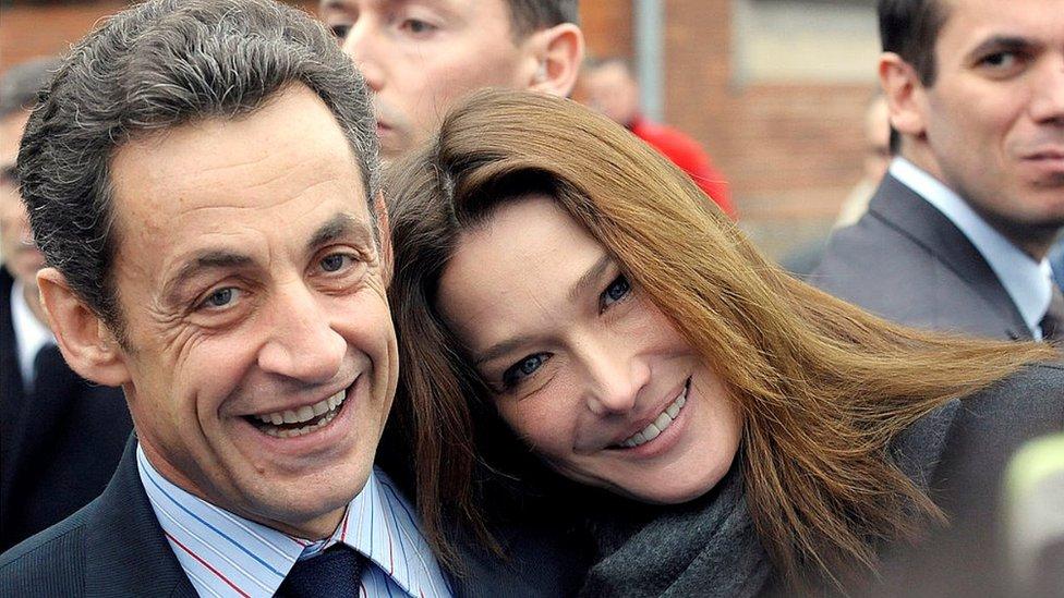 Carla Bruni and Nicolas Sarkozy, 22 Dec 09