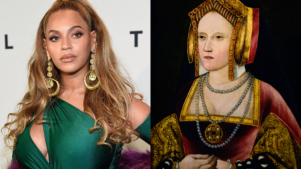BBC News - How Ariana and Beyonce inspired a musical about Henry VIII's wives