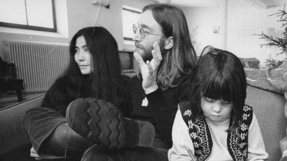 John Lennon, Yoko Ono and her daughter