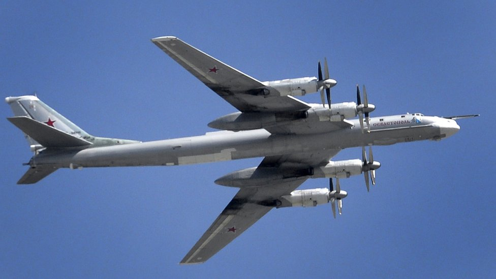 Tu-95 on display over Moscow, 7 May 15