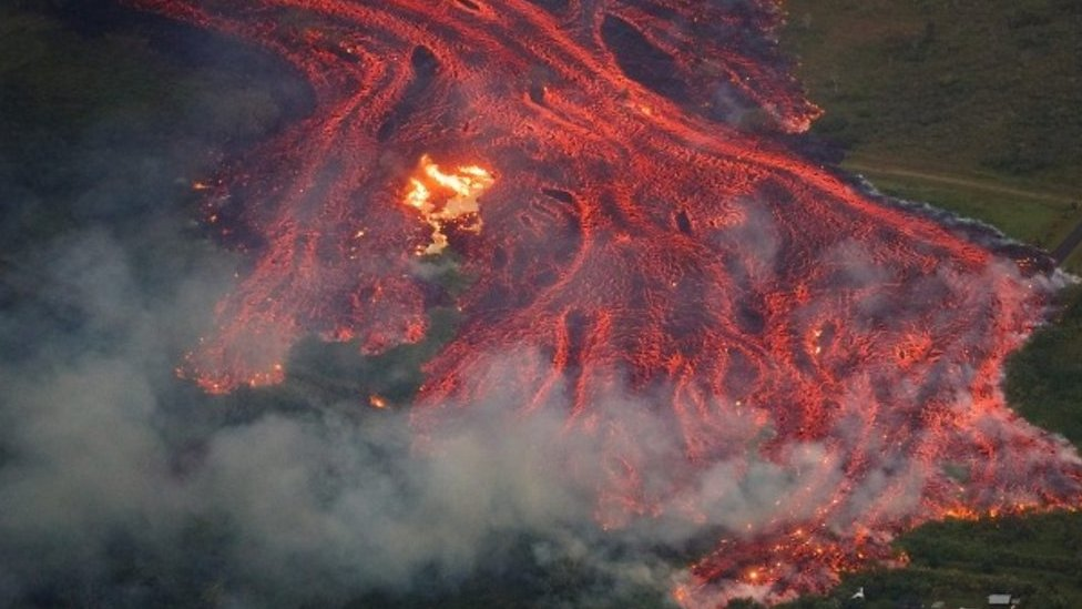 Eruptions from Hawaii's Kilauea volcano threaten escape route