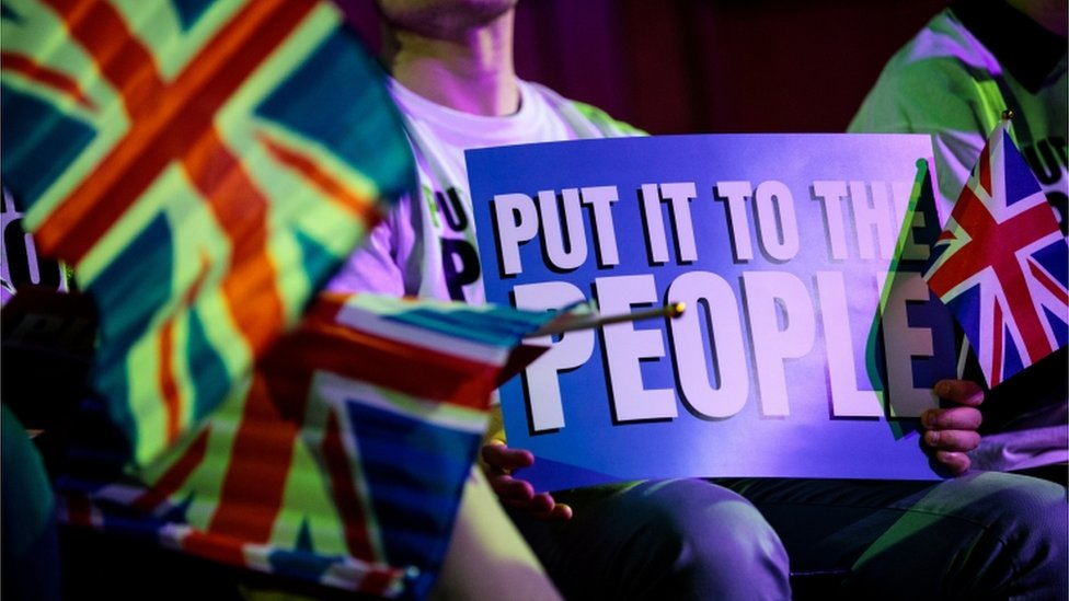 Campaigners for a second referendum
