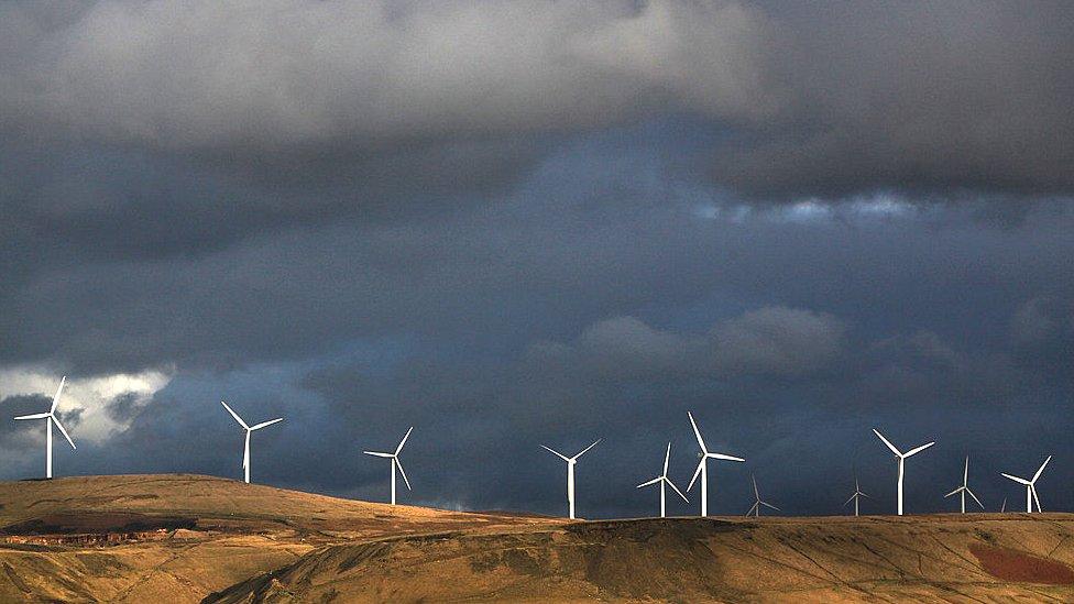 Wind farm, south Pennines