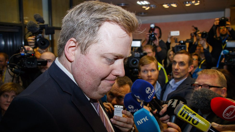 Sigmundur David Gunnlaugsson after his 5 Apr 16 resignation as PM