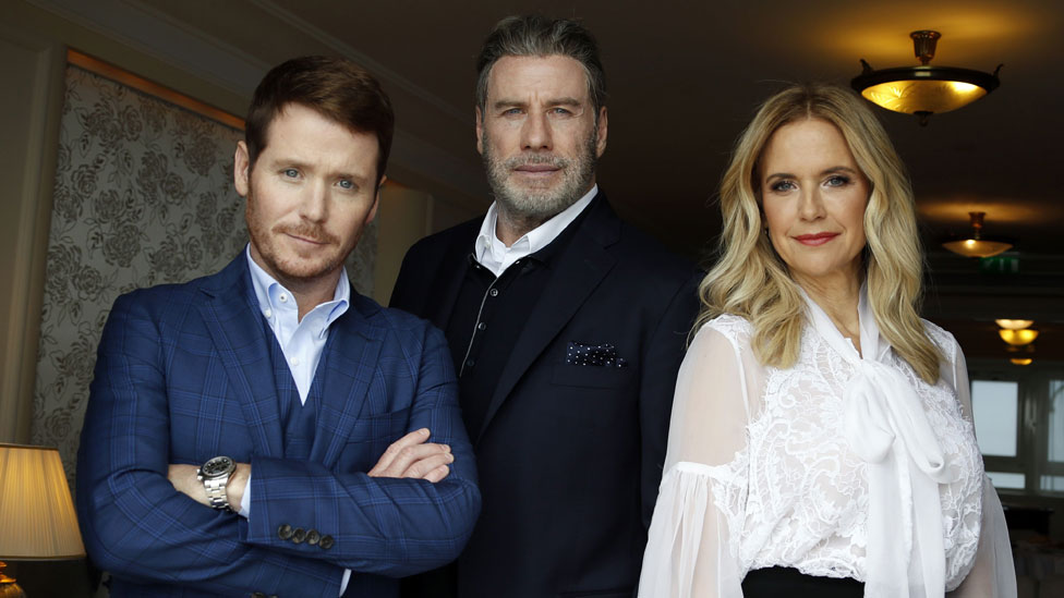 John Travolta, Kevin Connolly y Kelly Preston