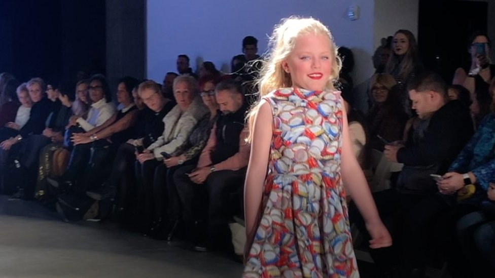 Sussex hole in heart girl is a catwalk model