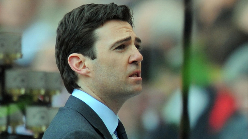 Andy Burnham speaks during a memorial service to mark the twentieth anniversary of the Hillsborough disaster at Anfield in Liverpool, north-west England, on April 15, 2009.