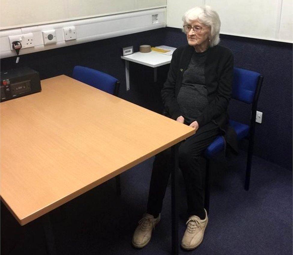 Josie Birds in an interview room